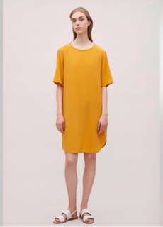 COS oversized silk T-shirt dress