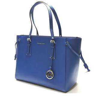 MK Voyager Medium MF Top Zip Tote(Electric Blue) size 33-42x27x16cm