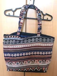 Aztec Printed Tote Bag