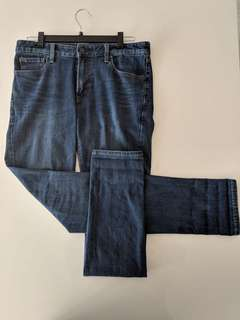 Uniqlo Men's Blue Denim Jeans (Used)