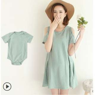 Nursing Dress with Baby Romper (po)