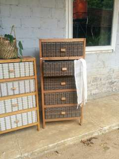 Lemari Laci. Storage Shelf. 5 tingkat