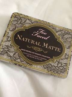 TOO FACED natural matte pallet