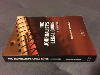 The journalist's legal guide 5th edition