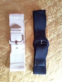 Belt black white
