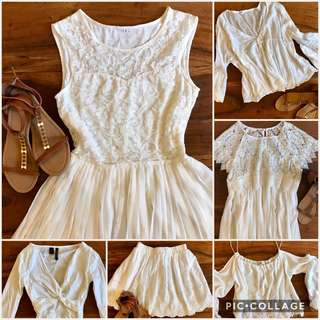 $5 white lace top dress skirt
