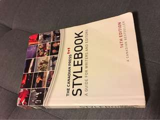 The Canadian Press Stylebook (16th edition)