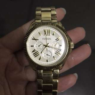 Fossil AM4570 Gold Authentic