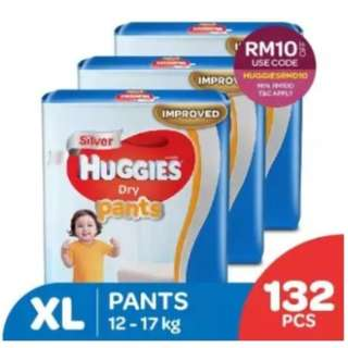 Huggies Dry Pants XL44 Super Jumbo (3 pack)