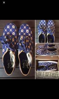 Brand New Authentic Keds Floral Navy Checkered Taylor Swift Sneakers Size 9