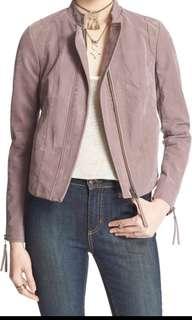 Free People Dusk Purple Leather Jacket