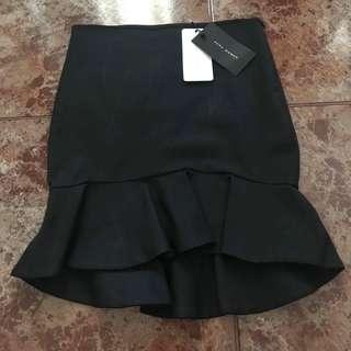 Zara Black Ruffle Skirt