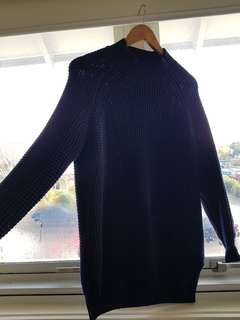 Glassons longline knit sweater waffle detail size S