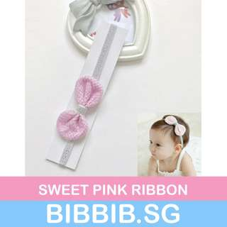 **JUNE SALES** Baby Hairbands - Sweet Pink Ribbon