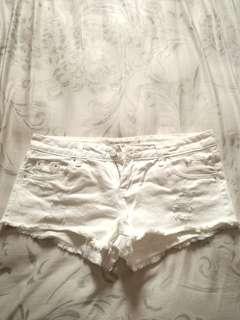 🚚 純白色系熱褲