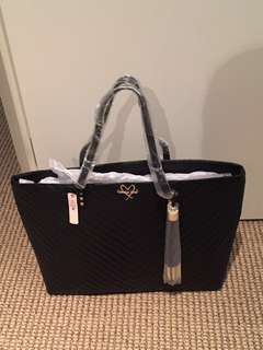 Genuine Large Victoria Secret Black Handbag