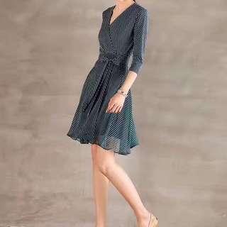 DVF printed silk dress