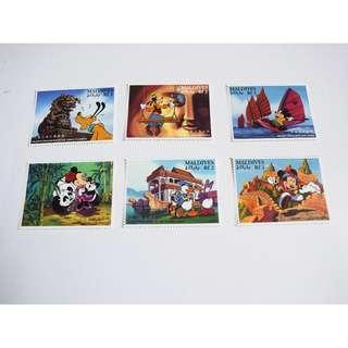 迪士呢卡通郵票