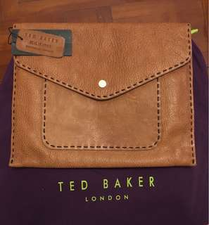 Ted Baker genuine leather clutch ( fit for iPad )