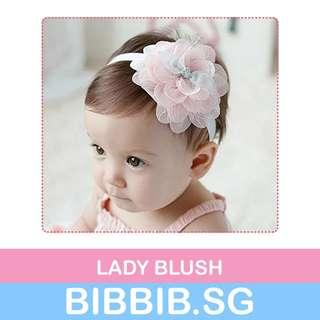 RESTOCKED** Baby Hairbands - Lady Blush