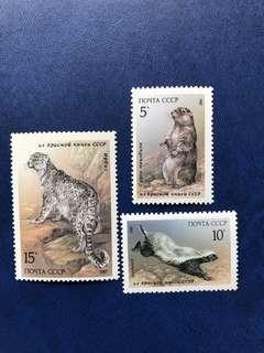 蘇聯 動物郵票3全