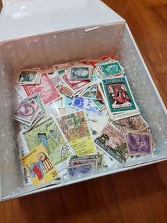 Stamp Box with Hundreds of Good Stamps for Sale