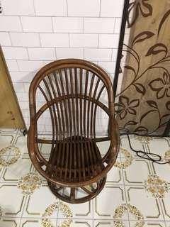 復古小旋轉藤椅小朋友版