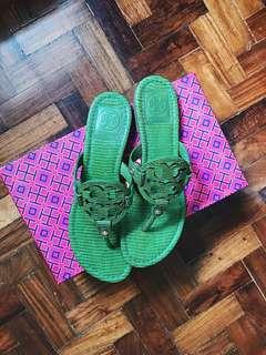 Tory Burch Green Sandals