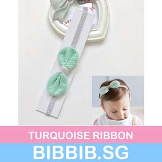 **JUNE SALES** Baby Hairbands - Turquoise Ribbon