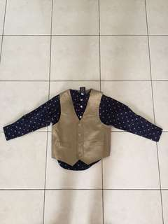 Nautica Boy's Vest & Shirt Brand New