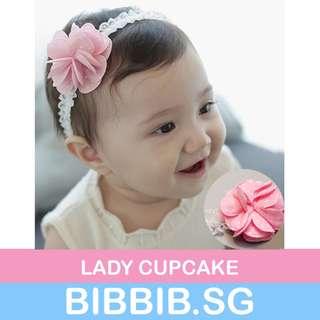 **JUNE SALES** Baby Hairbands - Lady Cupcake