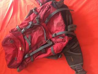 Deuter Aircontact 45 +10 Cranberry Red