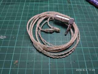 8絞7N單晶銅加銀MMCX 耳機升級線 銅銀各4條