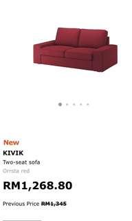 IKEA KIVIk 2 seat sofa