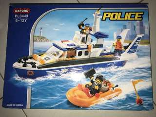 Oxford high quality korean lego-police collection-boat squad PL3443