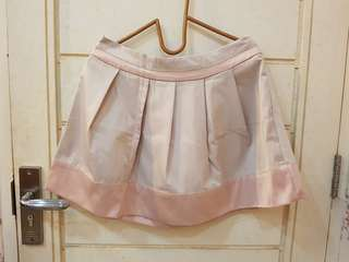 Sateen Skirt Beige List Pink