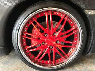 Dub Rims R19 and Invo Tires ($1400 for all 4)