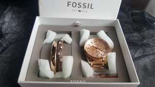 Fossil Original Watch + Gelang