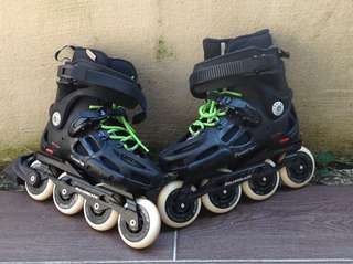 Twister 80 rollerblades black and green