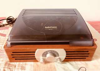 AudioComm Turntable with Am/Fm radio