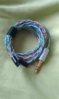 8 wire Copper 2 pin IEM upgrade cable