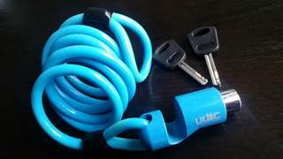 ULAC Bicycle Lock Bright Blue 2 Keys
