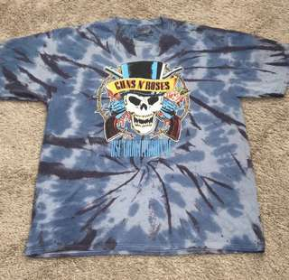 Orig. GUNS N' ROSES - Use Your Illusion Tie Dyed Tee from US