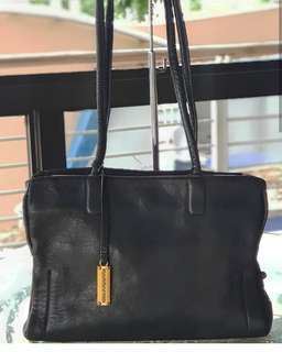 Authentic Rabeanco Black Smooth Lambskin Tote