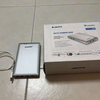 More than 30% OFF!! AKiTiO Thunder Dock | Thunderbolt Docking Station, Mint Condition Hardly used. Retail price is $300+