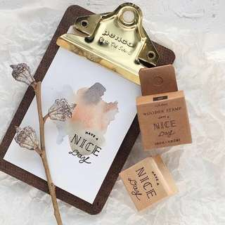 Life dairy Wooden Stamp [Pre-order]