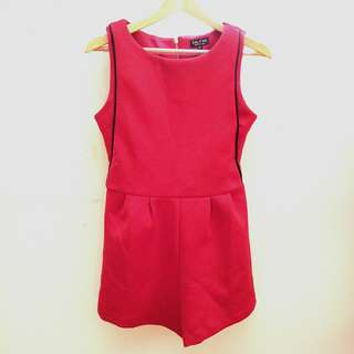 Zalora Red Playsuit