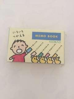 Sanrio vintage 大口仔 Minna No Tabo 1994 memo pad