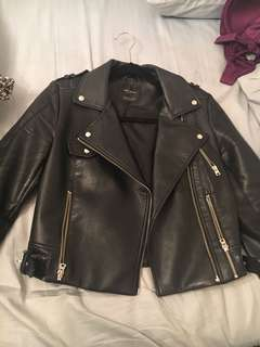 Zara Cropped Leather Jacket