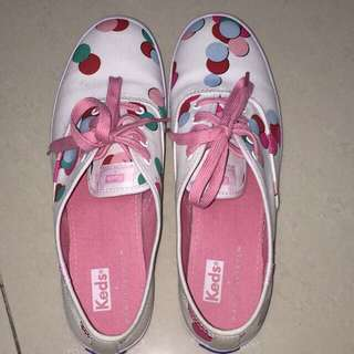 Authentic Keds x Partyskirts Limited Edition Polka Dots White Sneakers Size 8.5
